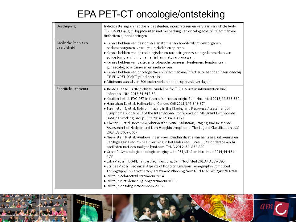 EPA PET-CT oncologie/ontsteking