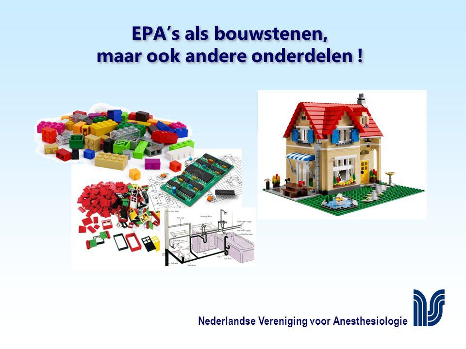 Nederlandse Vereniging voor Anesthesiologie EPA's als bouwstenen, maar ook andere onderdelen !