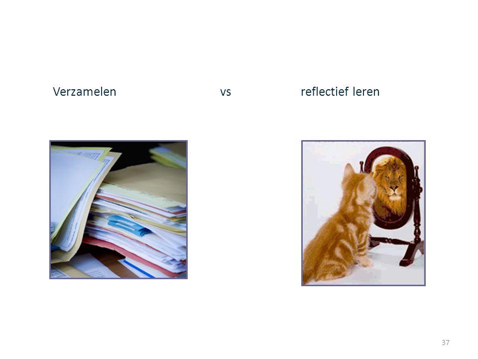 37 Verzamelen vs reflectief leren NVMO werkgroep portfolio, 13 november 2008