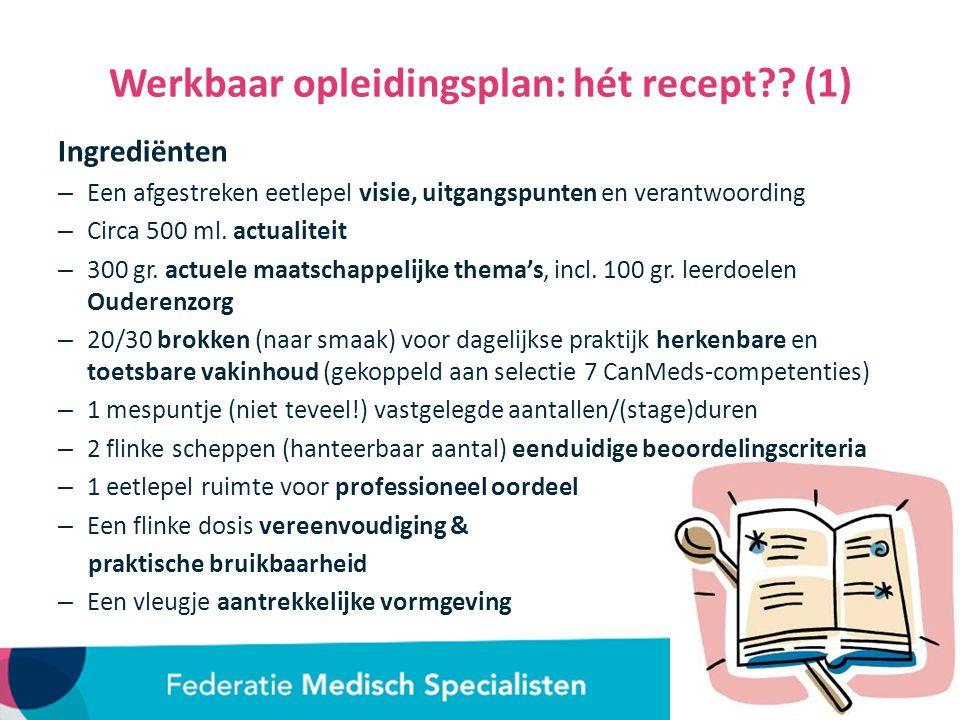 Werkbaar opleidingsplan: hét recept?.