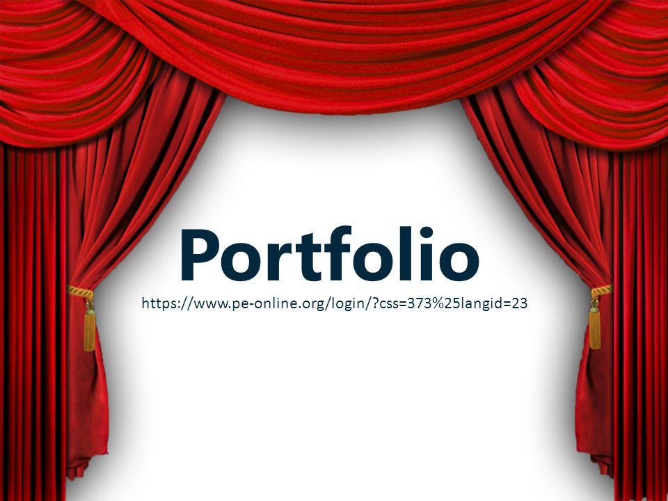 Portfolio https://www.pe-online.org/login/?css=373%25langid=23