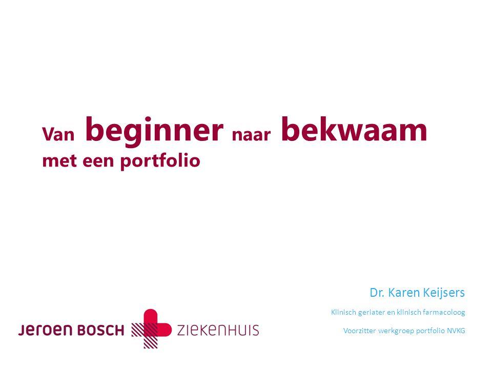 Van beginner naar bekwaam met een portfolio Dr.