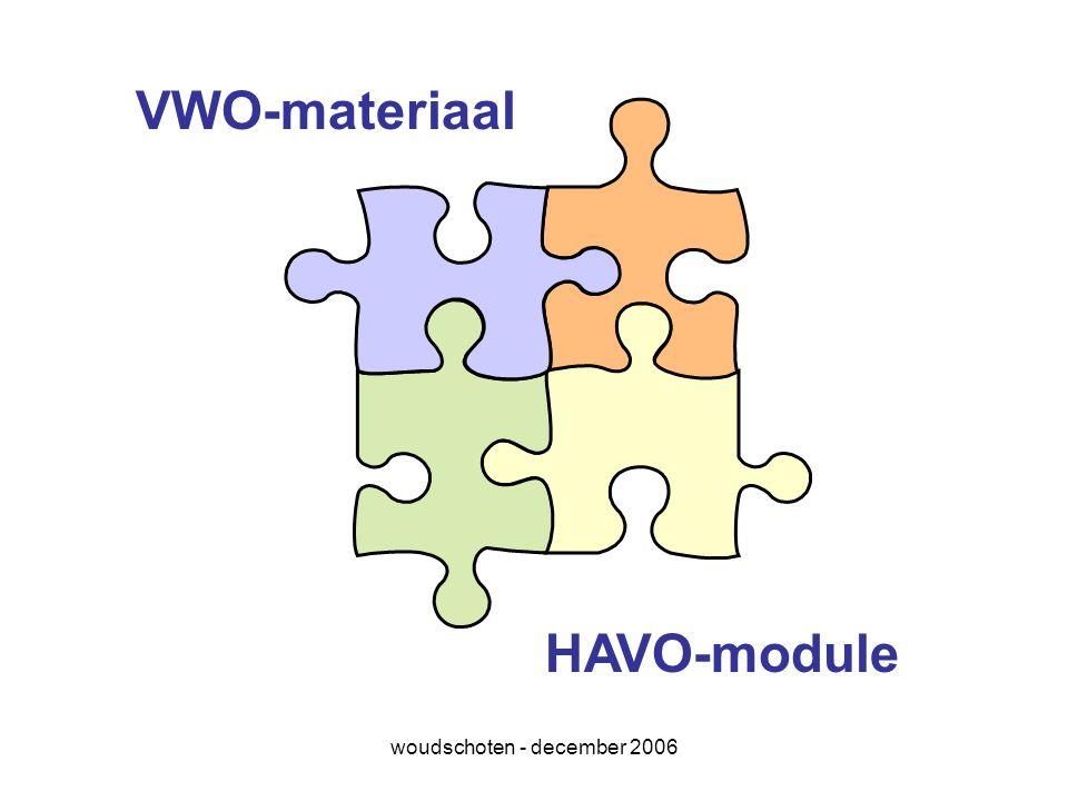 woudschoten - december 2006 VWO-materiaal HAVO-module