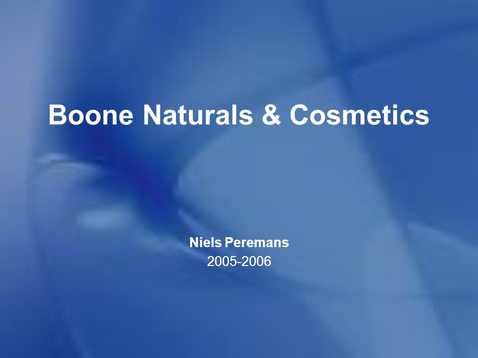 Boone Naturals & Cosmetics Hartelijke dank voor uw aandacht