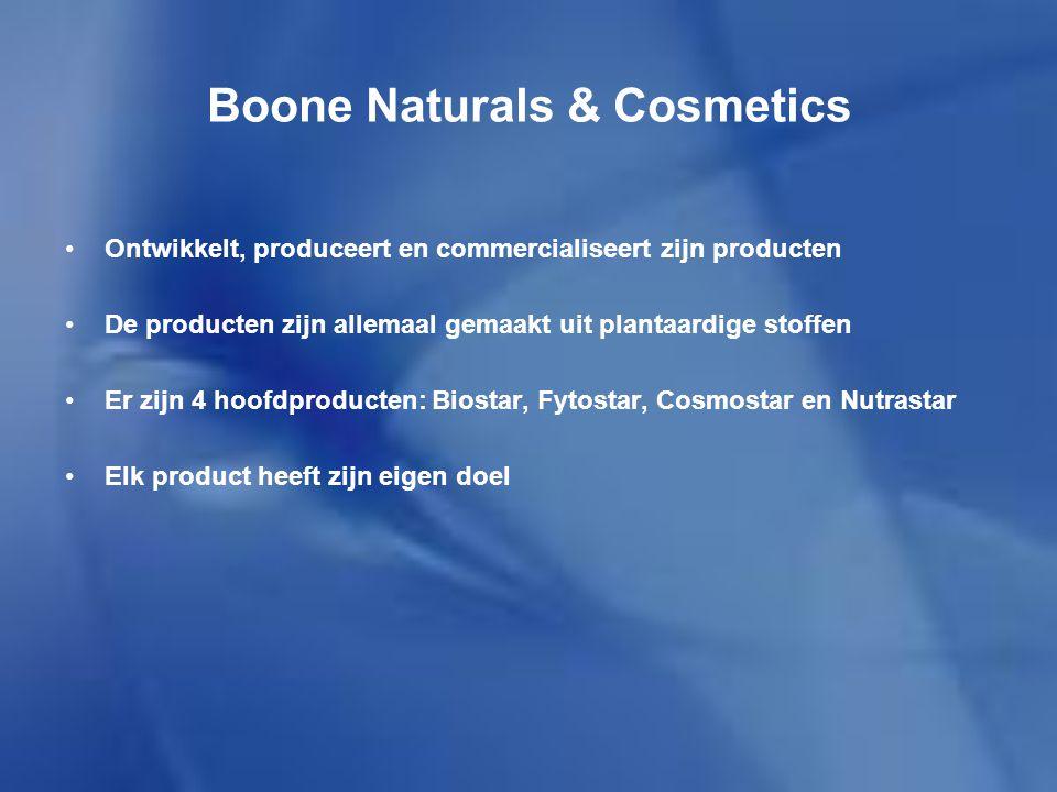 Boone Naturals & Cosmetics Biostar Wordt gebruikt door mensen die hun weerstand willen verhogen of met gezondheidsklachten.