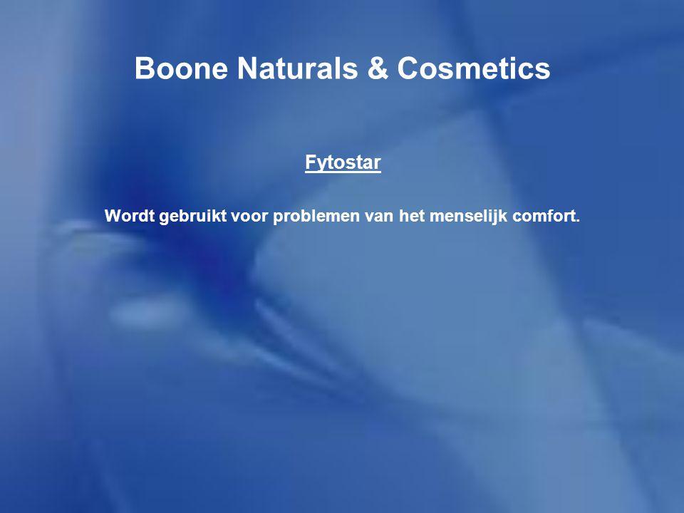 Boone Naturals & Cosmetics Cosmostar Het product bestaat uit verschillende cosmetica-producten.