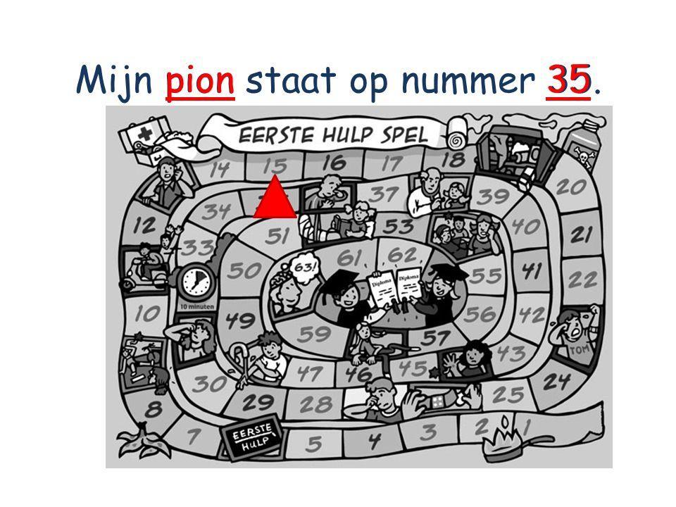 Mijn pion staat op nummer 35. pion35