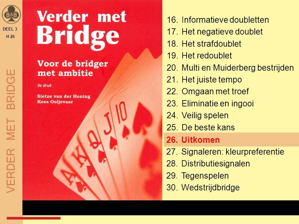 INLEIDING DEEL 3 H 26 Allereerst bekijken we het belang van het uitkomen en laten zien dat het op topniveau ook niet altijd goed gaat.