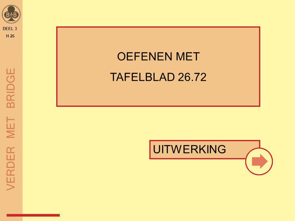 UITWERKING OEFENEN MET TAFELBLAD 26.72 DEEL 3 H 26