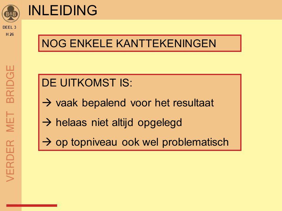 THUIS OEFENEN  Oefenspellen downloaden van www.beginmetbridge.nl  cursisten  oefenspellen  deel 3 – hoofdstuk 26  'Test je kennis' van hoofdstuk 26 DEEL 3 H 26