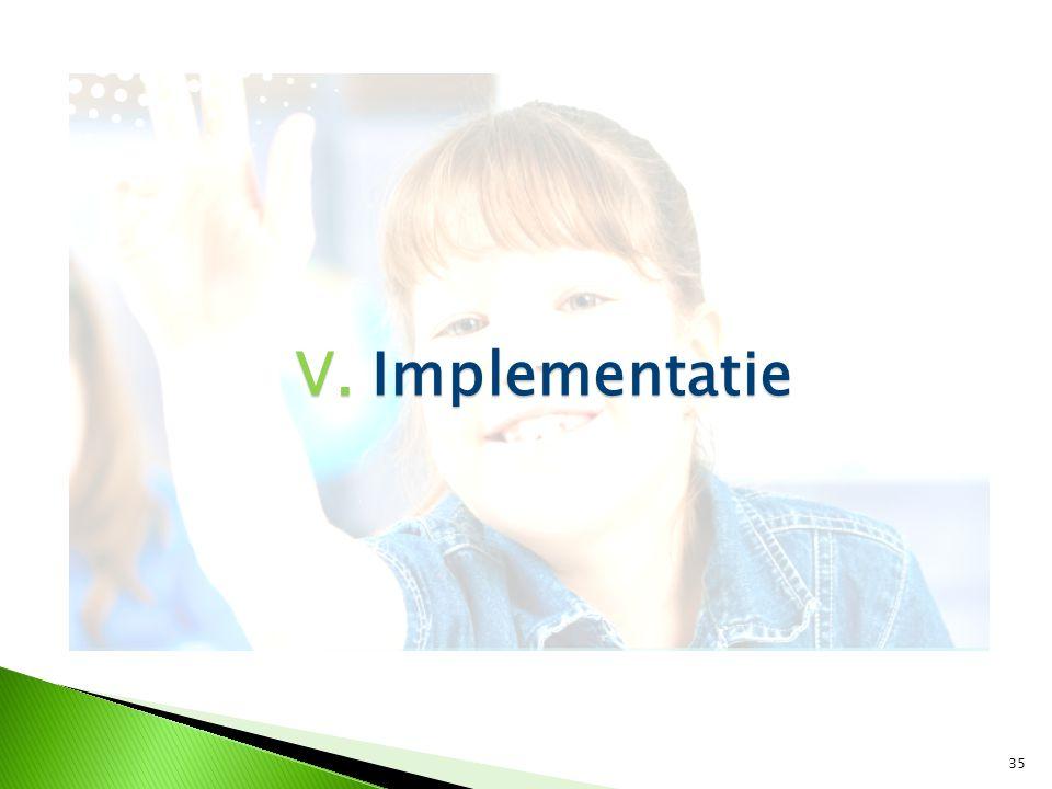 35 V. Implementatie