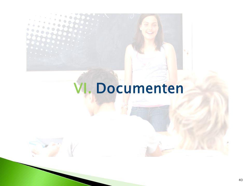40 VI. Documenten