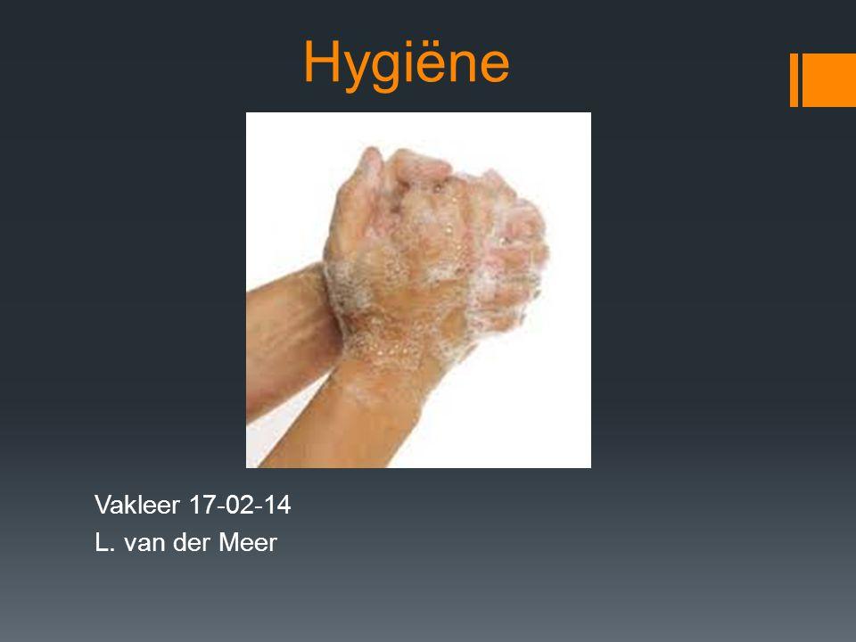 Hygiëne en hygiënisch werken  Hygieia was de Griekse godin van de gezondheid.