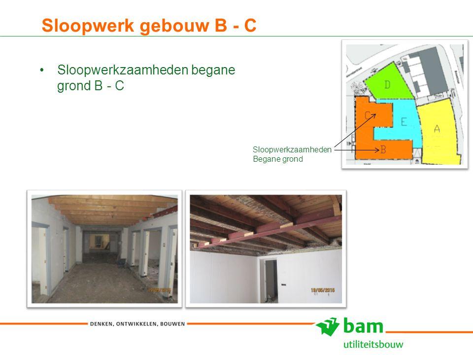 Sloopwerk gebouw B - C 8 Sloopwerkzaamheden begane grond B - C Sloopwerkzaamheden Begane grond