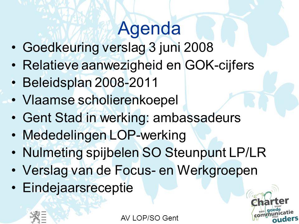 Goedkeuring verslag AV 3 juni 2008 AV LOP/SO Gent