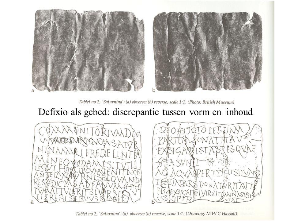 Defixio als gebed: discrepantie tussen vorm en inhoud