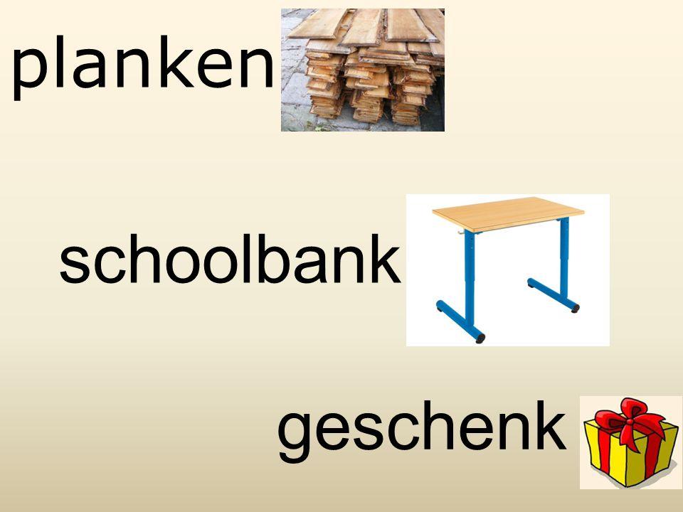 planken schoolbank geschenk