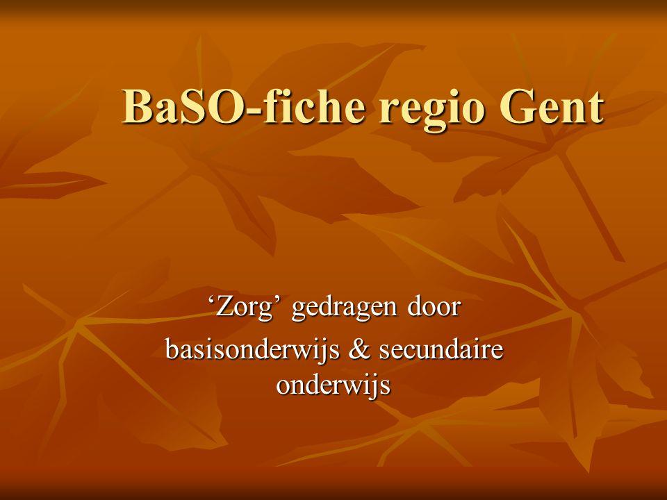 BaSO-fiche regio Gent 'Zorg' gedragen door basisonderwijs & secundaire onderwijs