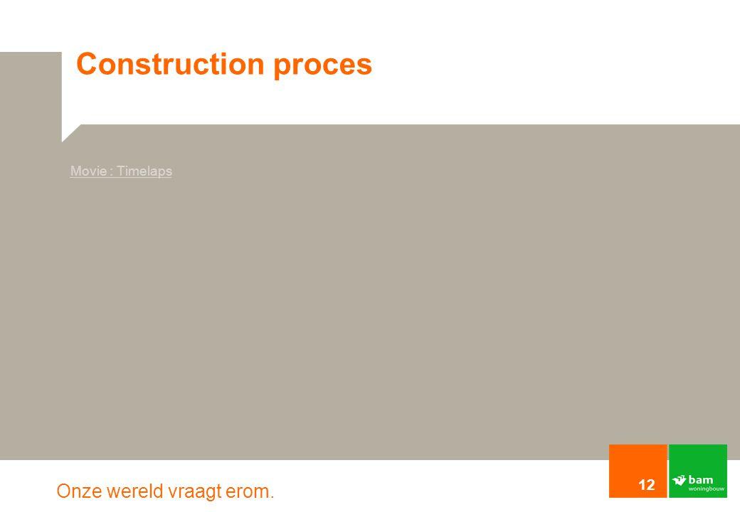 Onze wereld vraagt erom. Construction proces 12 Movie : Timelaps