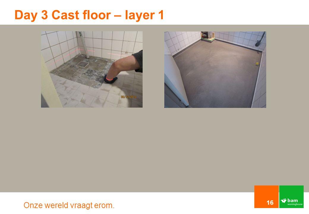 Onze wereld vraagt erom. Day 3 Cast floor – layer 1 16
