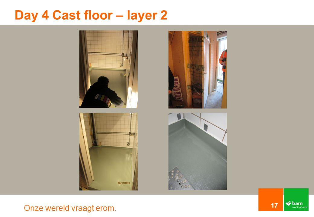 Onze wereld vraagt erom. Day 4 Cast floor – layer 2 17