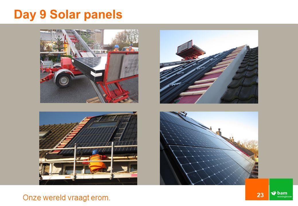 Onze wereld vraagt erom. Day 9 Solar panels 23