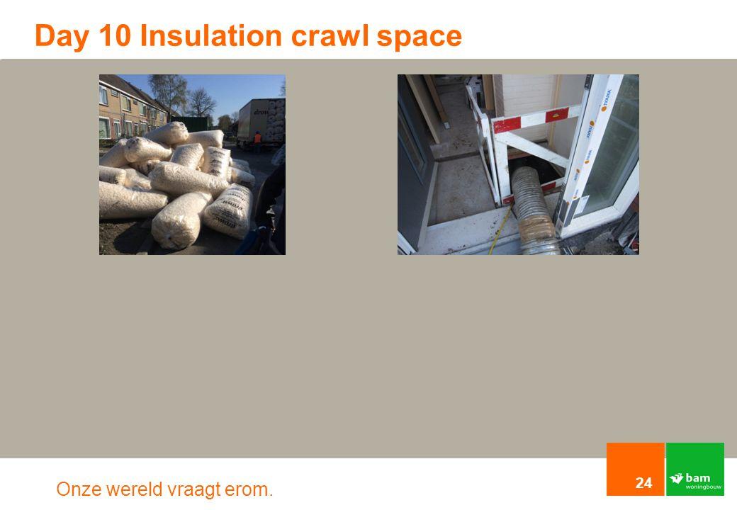Onze wereld vraagt erom. Day 10 Insulation crawl space 24