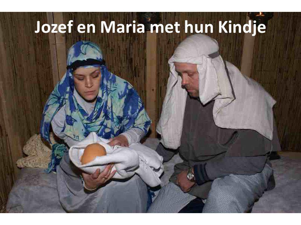 Jozef en Maria met hun Kindje