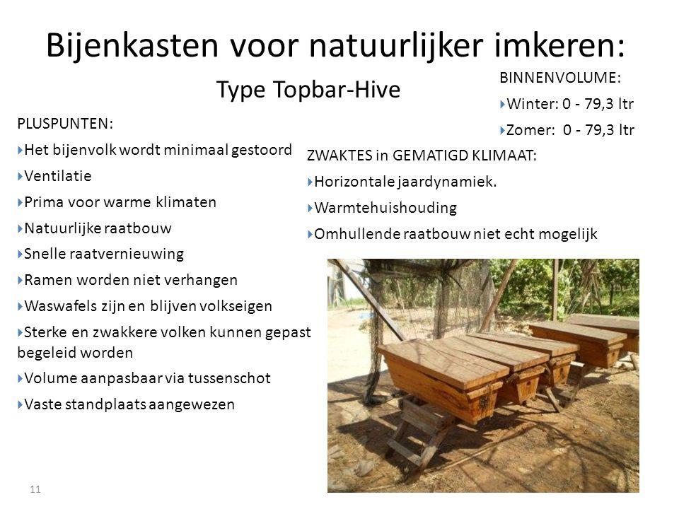 Bijenkasten voor natuurlijker imkeren: 11 ZWAKTES in GEMATIGD KLIMAAT:  Horizontale jaardynamiek.