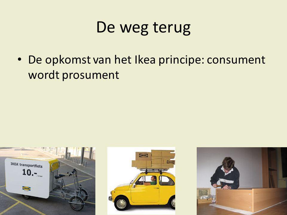 De weg terug De opkomst van het Ikea principe: consument wordt prosument