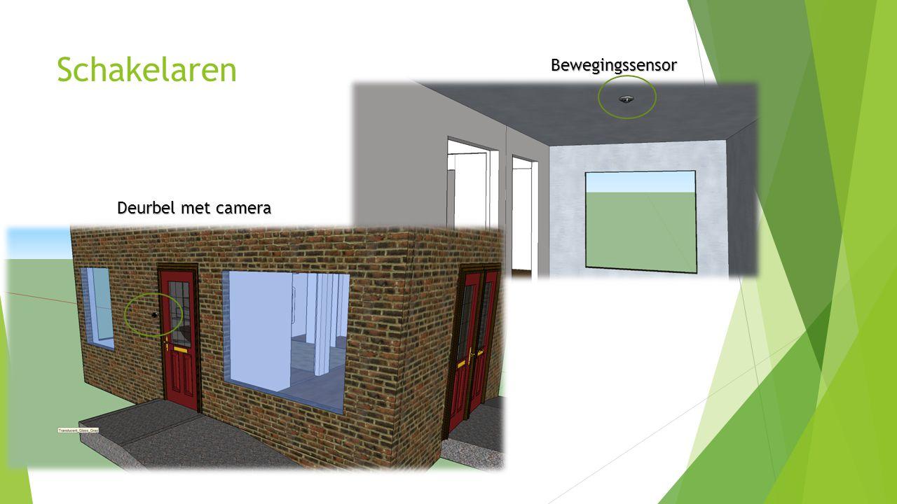 Schakelaren Deurbel met camera Bewegingssensor