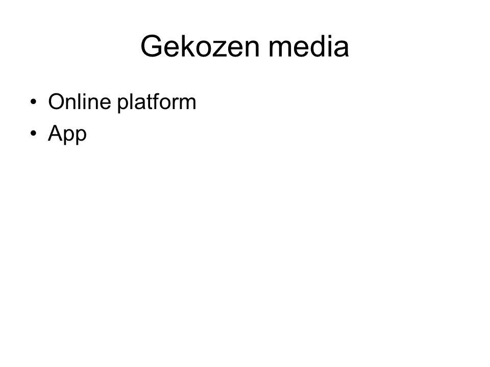 Gekozen media Online platform App
