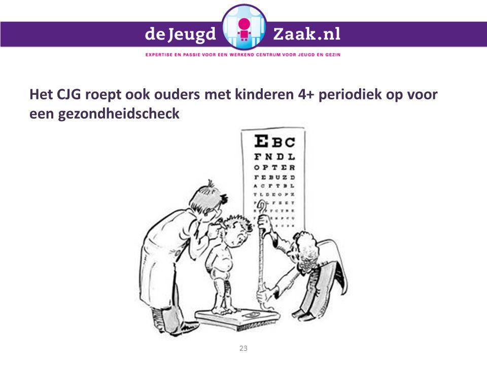 Het CJG roept ook ouders met kinderen 4+ periodiek op voor een gezondheidscheck 23