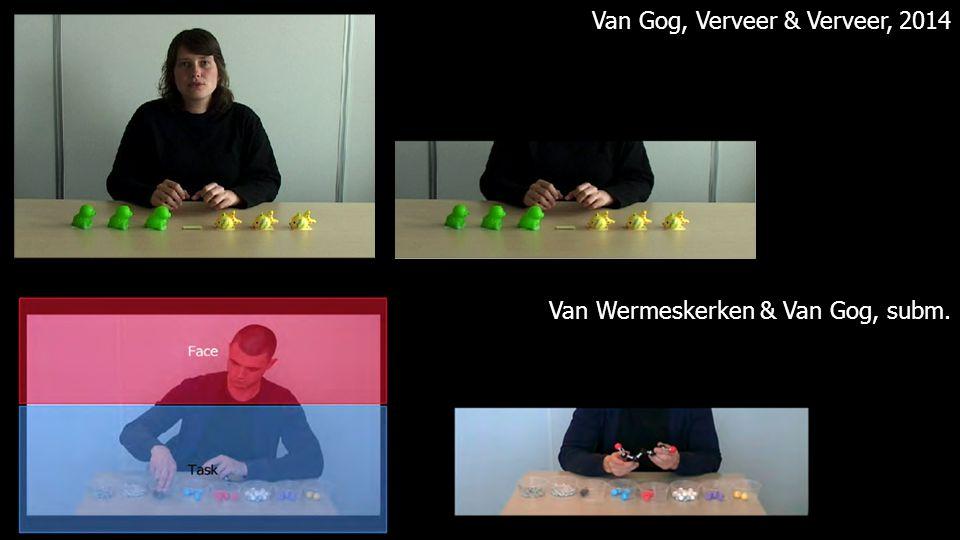 Van Gog, Verveer & Verveer, 2014 Van Wermeskerken & Van Gog, subm.