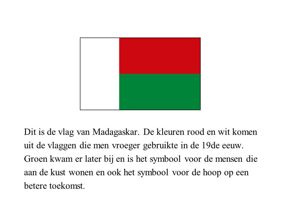 Dit is de vlag van Madagaskar.