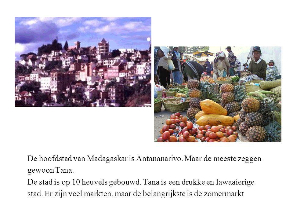 De hoofdstad van Madagaskar is Antananarivo. Maar de meeste zeggen gewoon Tana.