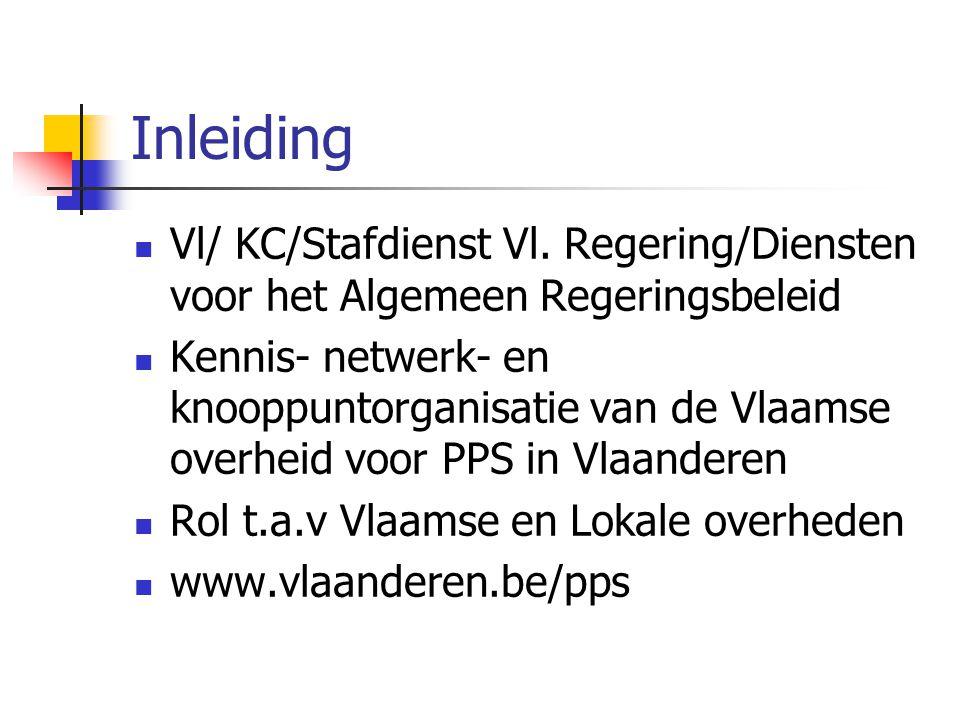 Inleiding Vl/ KC/Stafdienst Vl. Regering/Diensten voor het Algemeen Regeringsbeleid Kennis- netwerk- en knooppuntorganisatie van de Vlaamse overheid v