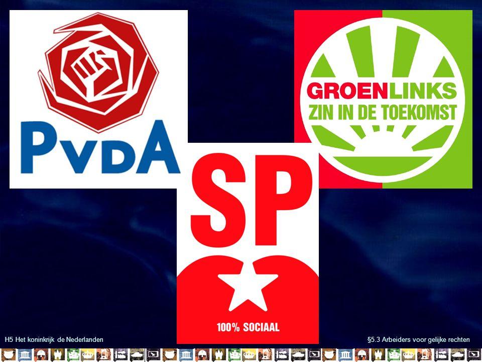 H5 Het koninkrijk de Nederlanden §5.3 Arbeiders voor gelijke rechten