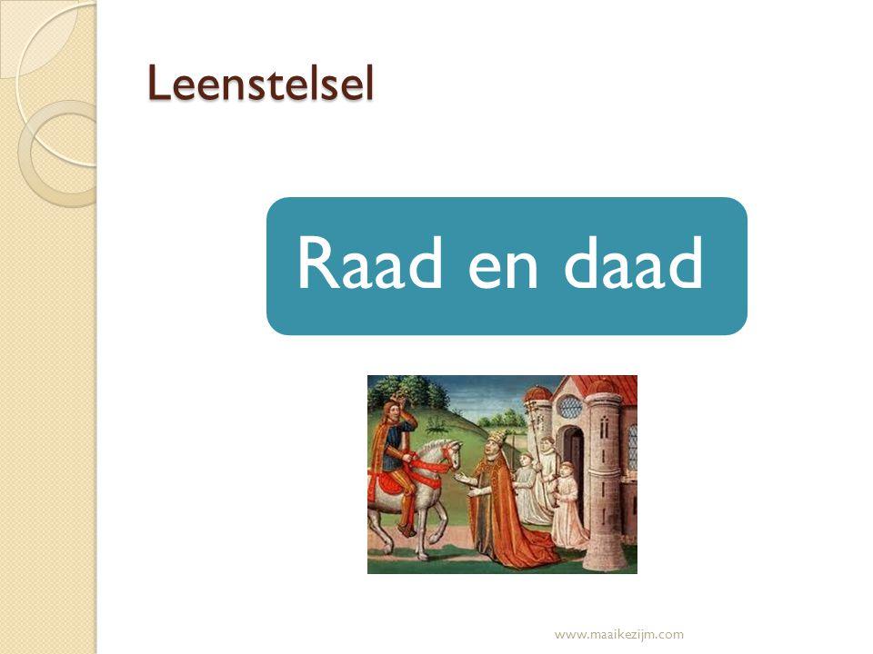 Leenstelsel Raad en daad www.maaikezijm.com