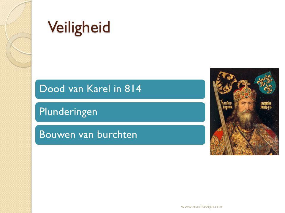 Veiligheid Dood van Karel in 814PlunderingenBouwen van burchten www.maaikezijm.com