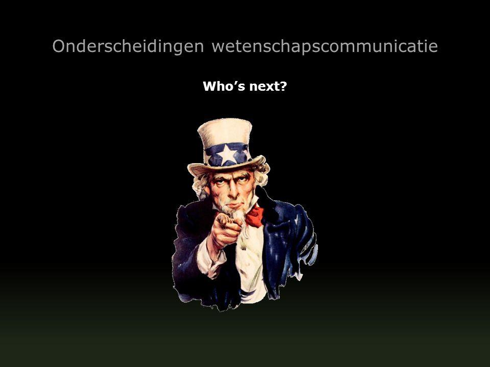 Onderscheidingen wetenschapscommunicatie Who's next.