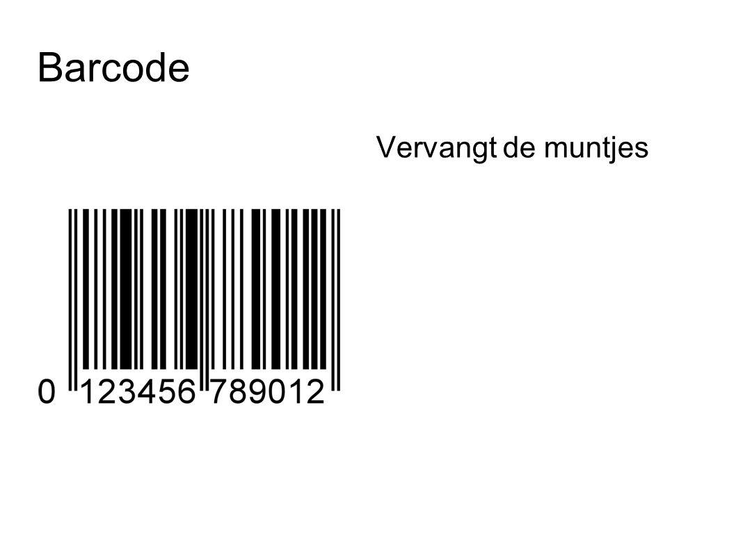 Barcode Vervangt de muntjes