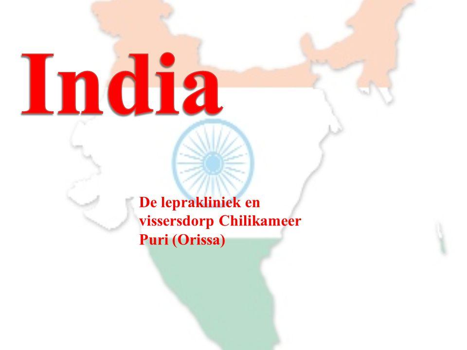 De leprakliniek en vissersdorp Chilikameer Puri (Orissa)