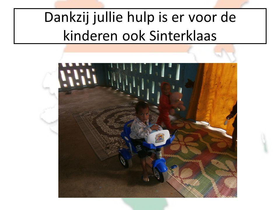 Dankzij jullie hulp is er voor de kinderen ook Sinterklaas