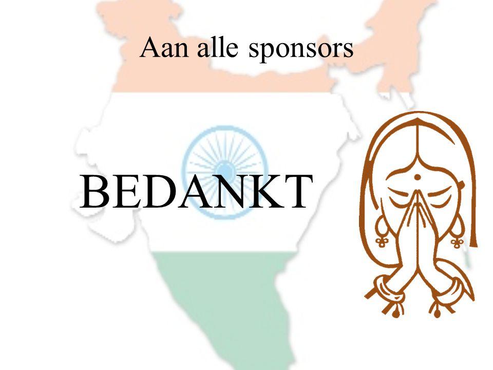 Aan alle sponsors BEDANKT