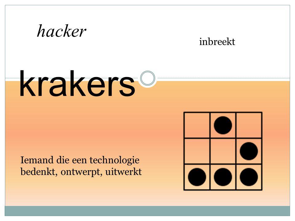 inbreekt hacker Iemand die een technologie bedenkt, ontwerpt, uitwerkt krakers