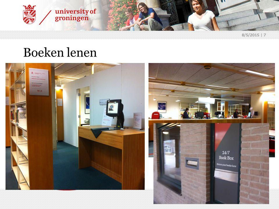 8/5/2015 | 7 8/5/2015 | 7 Boeken lenen