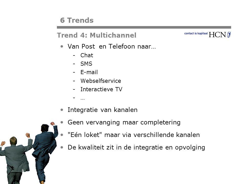 Pagina Van Post en Telefoon naar… -Chat -SMS -E-mail -Webselfservice -Interactieve TV -… Integratie van kanalen Geen vervanging maar completering