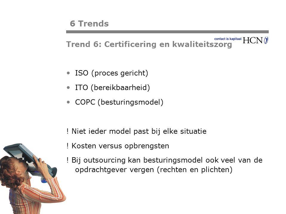 Pagina ISO (proces gericht) ITO (bereikbaarheid) COPC (besturingsmodel) ! Niet ieder model past bij elke situatie ! Kosten versus opbrengsten ! Bij ou