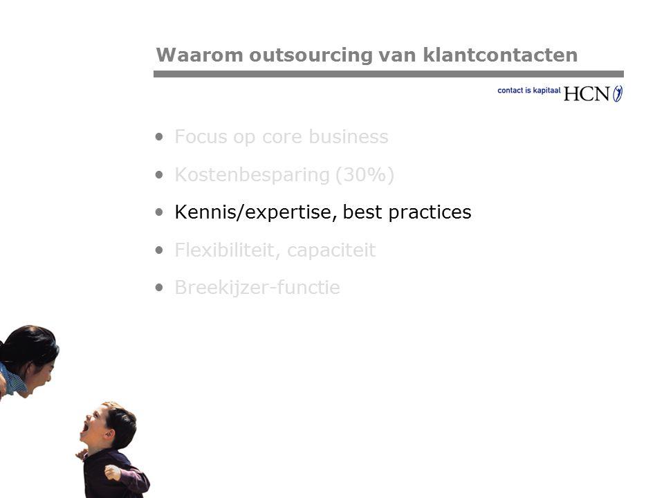 Pagina Focus op core business Kostenbesparing (30%) Kennis/expertise, best practices Flexibiliteit, capaciteit Breekijzer-functie Waarom outsourcing v